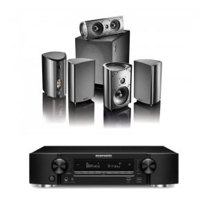 Marantz NR1607 Slim Line Home Theater Receiver – B-Stock w/ Definitive Technology ProCinema 600 5.1 Home Theater Speaker System – Black – B-Stock - Bundle