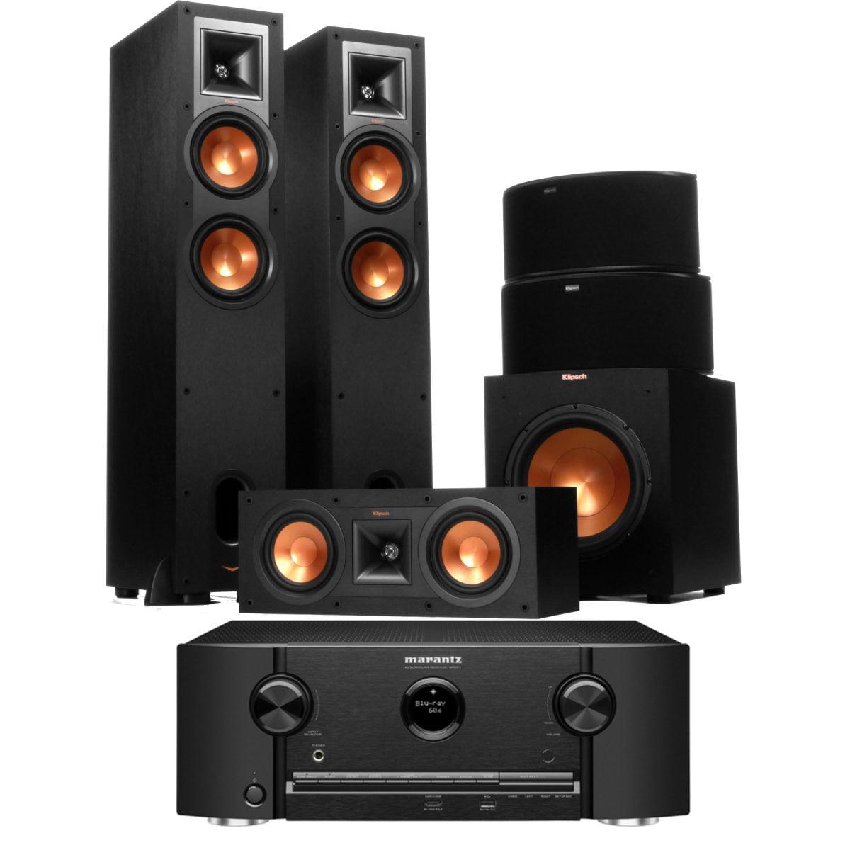 klipsch home theatre. klipsch \u0026 marantz r-26f + sr5011 home theatre speaker system - bundle
