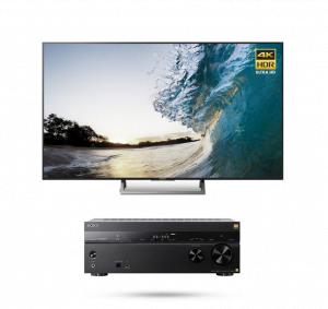 Sony XBR-65X850E 65″ LED 4K Ultra HD Smart TV - Sony STR-ZA810ES 7.2 ch. AV Receiver - Bundle