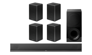 Sony HT-CT800 2.1 Soundbar and Wireless Subwoofer w/ SRS-ZR5 Wireless Speakers x4 – Bundle