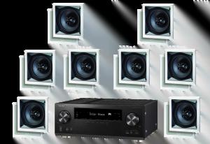 Pioneer VSX-1131 7.2 B-Stock Receiver w/ Paradigm CS-60SQ-SM v2 50W In-Wall Speakers x8 – Bundle