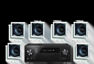 Pioneer VSX-831 5.2 B-Stock Receiver w/ Paradigm CS-60SQ-SM v2 50W In-Wall Speakers x6 – Bundle
