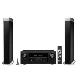 Definitive Technology BP-9080X Tower Speaker with Integrated Powered Subwoofer x2 w/ Denon AVR-S930H Network AV Receiver with HEOS - Bundle