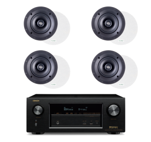Denon AVR-X3300W 7.2 In-Command Receiver and Paradigm CS-50R v3 40W In-Ceiling Speakers - Bundle