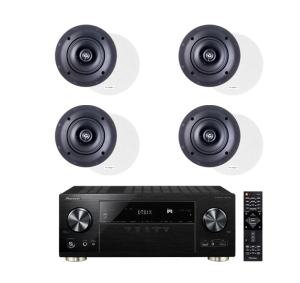 Pioneer VSX-1131 7.2-Channel AV Receiver - Paradigm CS-50R v3 40W In-Ceiling Speakers - Pair x2 - Bundle