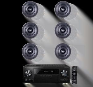 Pioneer VSX-1131 7.2-Channel AV Receiver - Paradigm CS-50R v3 40W In-Ceiling Speakers - Pair x3 - Bundle