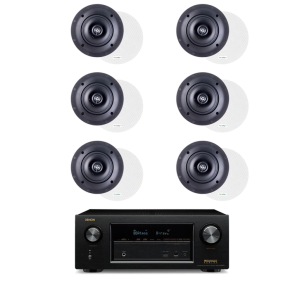 Denon AVR-X3300W 7.2 Receiver - Paradigm CS-50R v3 40W In-Ceiling Speakers - Pair x3 - Bundle