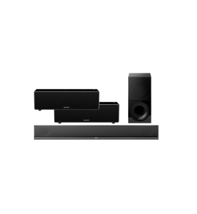 Sony HT-CT800 2.1 Soundbar Wireless Subwoofer w/ Sony SRS-ZR7 Wi-Fi/Bluetooth Wireless Speaker x2 – Bundle