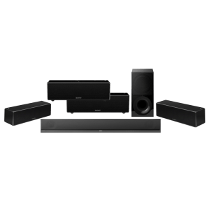 Sony HT-CT800 2.1 Soundbar Wireless Subwoofer w/ Sony SRS-ZR7 Wi-Fi/Bluetooth Wireless Speaker x4 – Bundle
