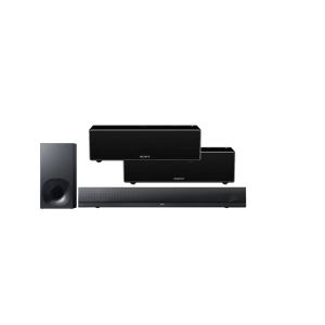 Sony HT-NT5 2.1 400W Soundbar and Bluetooth WiFi Wireless Subwoofer w/ Sony SRS-ZR7 Wi-Fi/Bluetooth Wireless Speaker x2 – Bundle