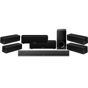 Sony HT-CT800 2.1 Soundbar Wireless Subwoofer w/ Sony SRS-ZR7 Wi-Fi/Bluetooth Wireless Speaker x6 - Bundle