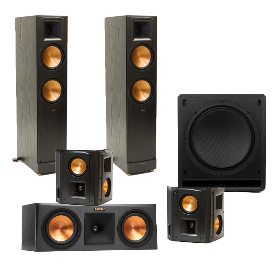klipsch rf 82 ii floorstanding speakers x2 w rp 250c. Black Bedroom Furniture Sets. Home Design Ideas