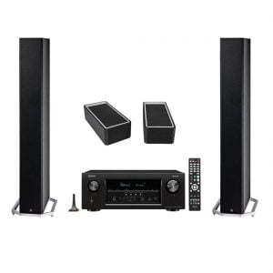 Definitive Technology BP-9060 High-performance Bipolar Tower Speaker x2 w/ A90 High-Performance Height Speaker Module - Pair and Denon AVR-S930H Network AV Receiver with HEOS - Bundle