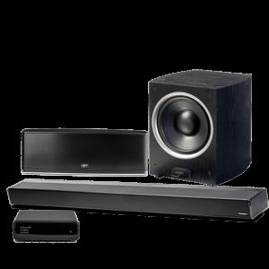 Paradigm PW 46″ Soundbar w/ PW 800 Stereo Speaker and PDR-100 Subwoofer – Black – Bundle