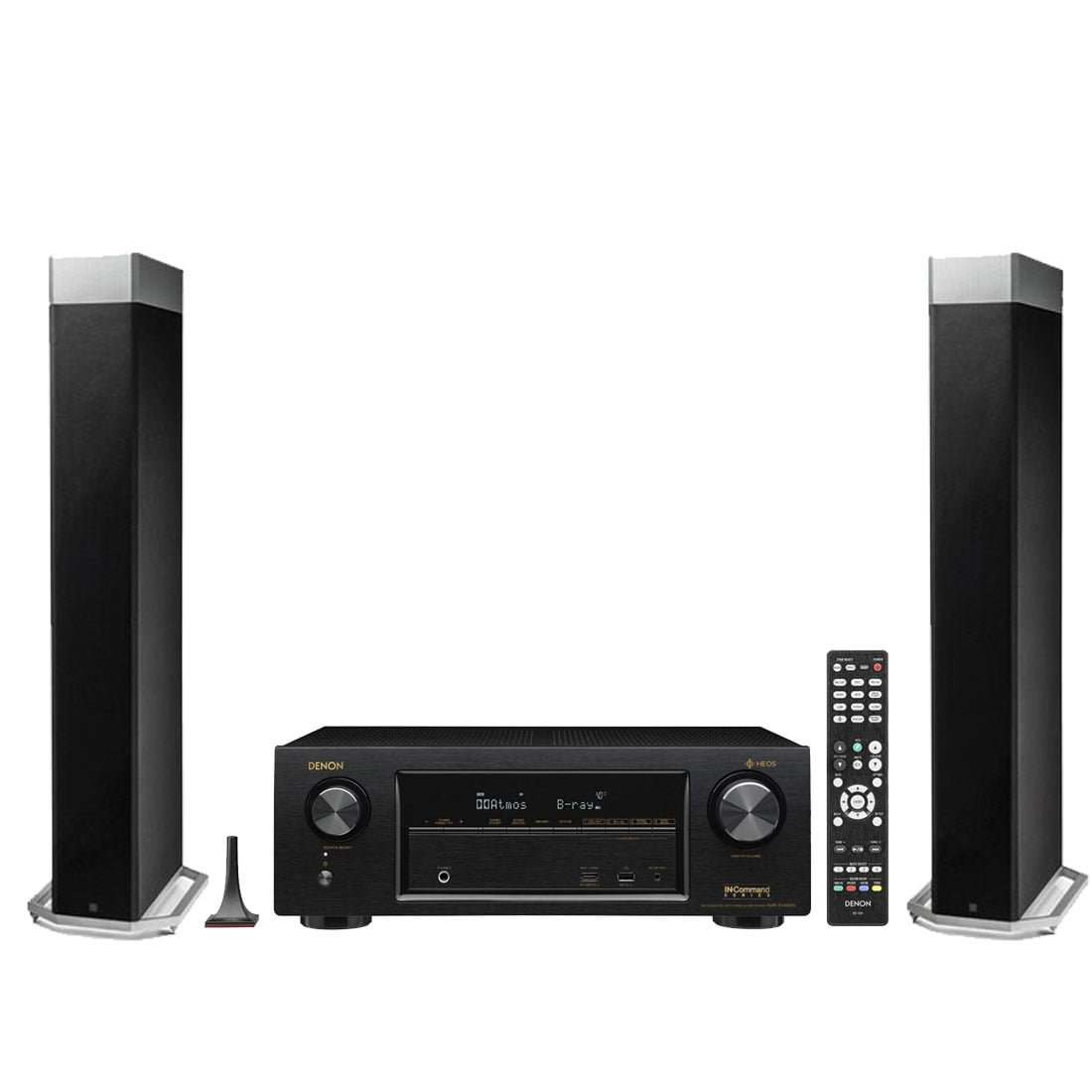 definitive speakers. definitive technology bp-9080x tower speaker with integrated powered subwoofer x2 w/ denon avr speakers