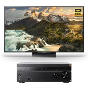 Sony XBR-100Z9D 100″ 4K Ultra HD Smart LED TV w/ STR-ZA810ES 7.2 ch Hi-RES Wi-Fi Network AV Receiver – Bundle