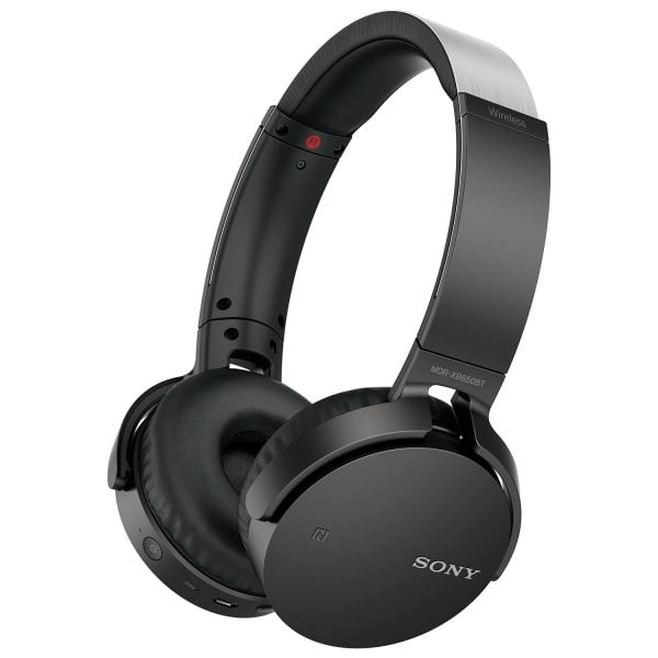 Sony MDR-XB650BT/B Over-Ear Sound Isolating Wireless Headphones with Mic - Black