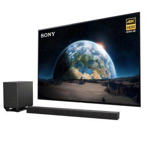 Sony XBR-55A1E Bravia OLED 4K Ultra HD High Dynamic Range HDR Smart TV w/ Sony HT-ST5000 Dolby Atmos Soundbar with Wi-Fi/Bluetooth - Bundle