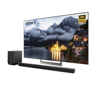 Sony XBR-55X900E 55″ LED 4K Ultra HD HDR 2160p Smart TV w/ Sony HT-ST5000 WiFi/Bluetooth Dolby Atmos Soundbar - Bundle