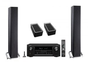 Definitive Technology BP9040 Tower Speakers x2 – A90 Speaker Module - Pair – Denon AVR-X2400H 7.2 Channel Full 4K Ultra AV Receiver - Bundle