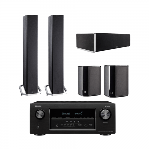 Definitive Technology BP9060 Tower Speakers x2 - CS9060 Center Channel Speaker - SR9040 Surround Speakers x2 - Denon AVR-S930H 7.2 Ch 4K Ultra HD AV Receiver - Bundle