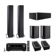 Definitive Technology BP9060 Tower Speakers x2 - CS9060 Center Channel Speaker - SR9040 Surround Speakers x2 - A90 Speaker Module – Pair - Denon AVR-S930H 7.2 Ch 4K Ultra HD AV Receiver - Bundle