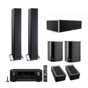 Definitive Technology BP9060 Tower Speakers x2 - CS9060 Center Channel Speaker - SR9040 Surround Speakers x2 - A90 Speaker Module – Pair - Denon AVR-X1400H 7.2 In-Command Receiver - Bundle