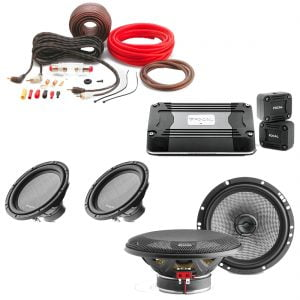 """Focal AC165 Access Series 6.5"""" Coaxial Car Audio Speakers w/ Focal 30A4 12"""" Subwoofer x2 w/ Focal FD4350 4-channel amplifier and Focal PK8 Amp Kit - Bundle"""