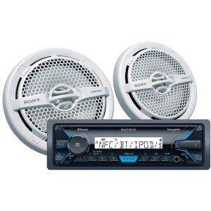 Sony DXS-M5511BT Marine Digital Media Receiver & Speaker Package