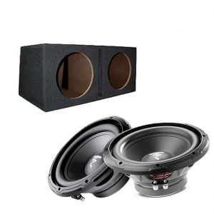 "Focal RSB250 10"" Subwoofer x2 w/ Bassworx SWP210B 10″ Dual Slot Subwoofer Enclosure"