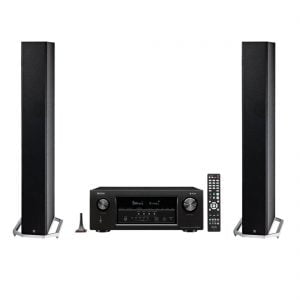 Definitive Technology BP-9060 High-performance Bipolar Tower Speaker x2 and Denon AVR-S930H Network AV Receiver with HEOS - Bundle