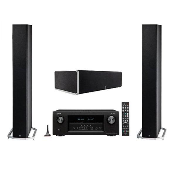 Definitive Technology BP-9060 High-performance Bipolar Tower Speaker x2 w/ CS9060 Center Channel Speaker and Denon AVR-S930H Network AV Receiver with HEOS - Bundle