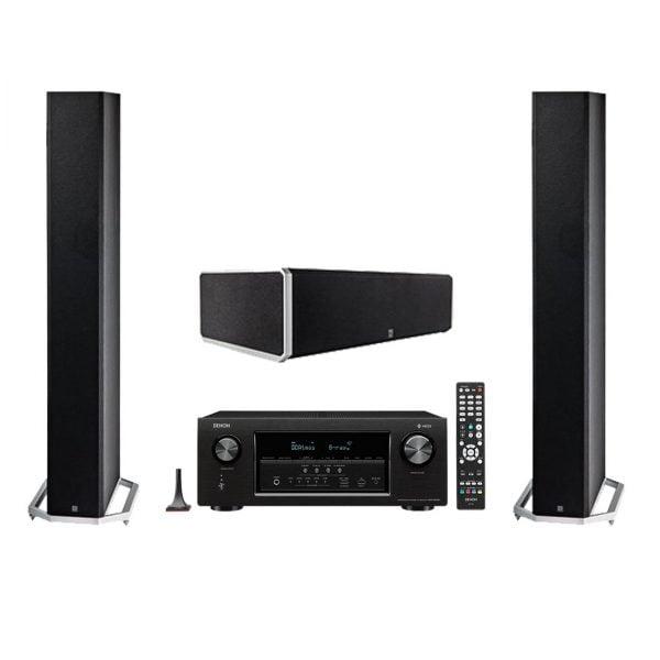 Definitive Technology BP-9040 Bipolar Tower Speaker x2 w/ CS9040 High-Performance Center Channel Speaker and Denon AVR-S930H Network AV Receiver with HEOS - Bundle