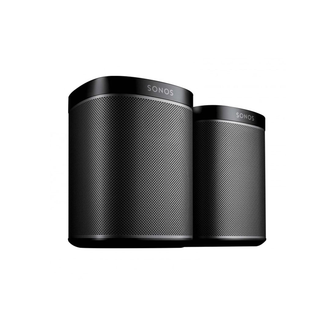 sonos play 1 black compact wireless speaker pair. Black Bedroom Furniture Sets. Home Design Ideas