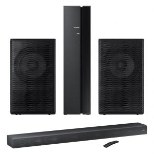 Samsung HW-MS650 3.0 450W Premium Soundbar w/ SWA-9000S Wireless Rear Speaker Kit – Pair - Bundle