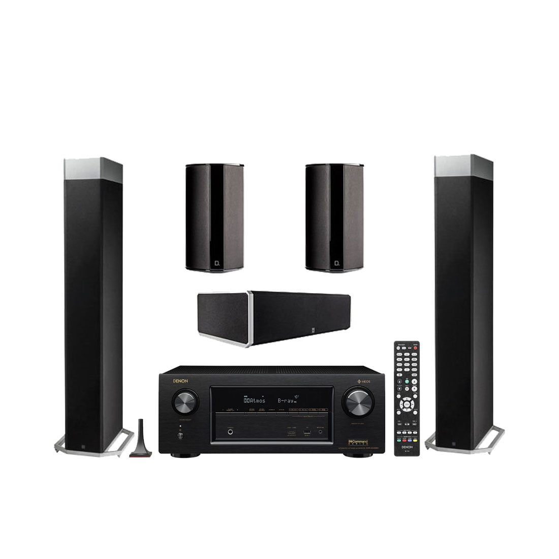 definitive speakers. definitive technology bp-9080x tower speakers with integrated powered subwoofer x2 w/ cs9080 center