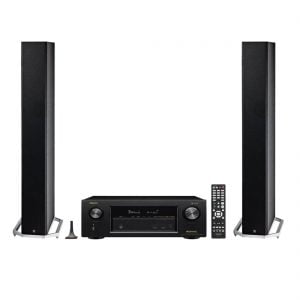 Definitive Technology BP-9040 Bipolar Tower Speaker x2 and Denon AVR-X2400H Network AV Receiver with HEOS - Bundle