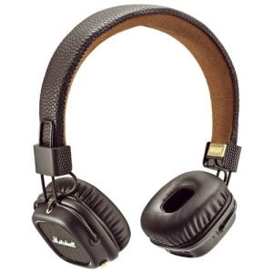Marshall Major II Bluetooth Over the Ear Headphones - Brown