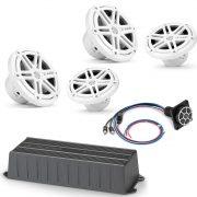 JL Audio Marine MX280-4-98405 4 Channel Amplifier Marine Power Sport Package