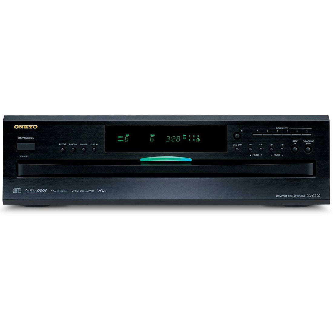 onkyo dx c390 6 disc carousel cd player b stock gibbys. Black Bedroom Furniture Sets. Home Design Ideas