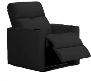 Palliser Techno 3E Power Recliner 1000 PVC Tulsa II Jet Black