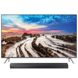 "Samsung UN55MU8000FXZC 4K UHD TV - 55"" Class w/ HW-MS650 3.0 450W Sound+ Premium Soundbar - Bundle"