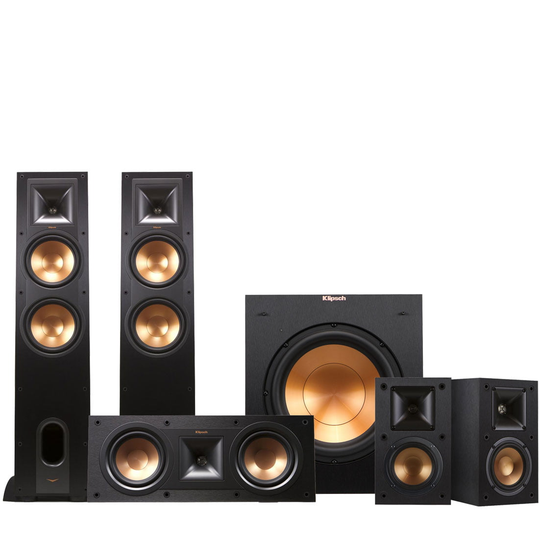 bundle play speakers bookshelf rw three audio klipsch speaker w the fi sixes product system walnut and