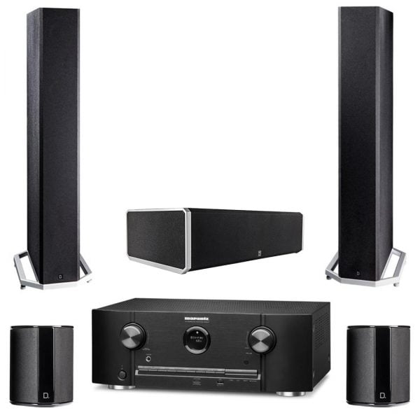 Marantz SR5012 HEOS Receiver w/ Definitive Technology BP-9040 Tower Speakers w/ CS9040 Center Channel and SR-9040 Bipolar Surround Speakers - Bundle