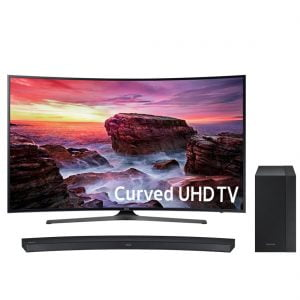 "Samsung UN55MU6500 55"" Curved 4K UHD TV w/ HW-M4500 2.1 260W Curved Soundbar with 6.5″ Wireless Subwoofer - Bundle"