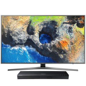 "Samsung UN55MU7000FXZC 55"" Smart LED 4K Ultra HD TV w/ UBD-M8500/ZC Ultra HD Blu-ray Player - Bundle"