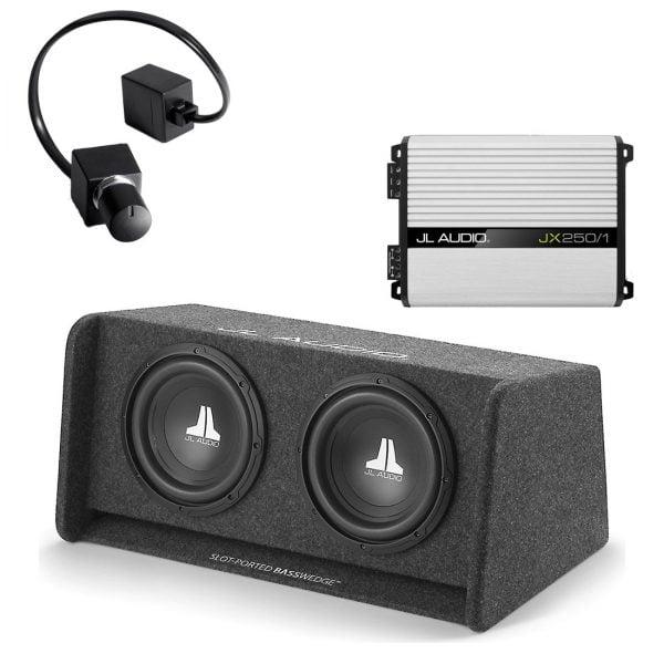 JL Audio CP210-W0v3 Sub w/ JX250/1D Amp and RBC-1 Bass Remote - #93265 - #99402 - #98015 - Bundle