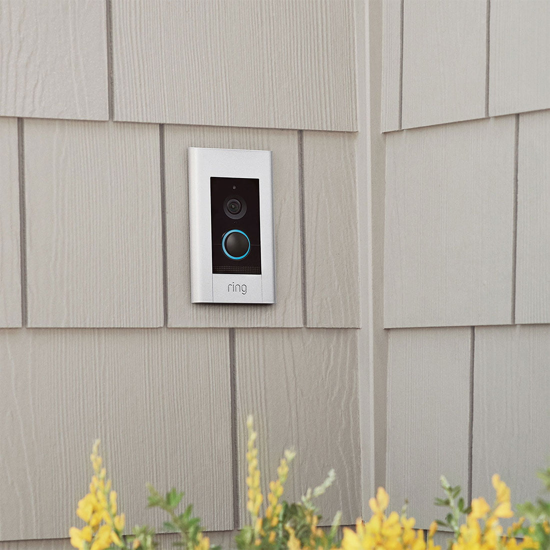Ring Wi Fi Video Doorbell Elite Poe 1080p Flush Mt