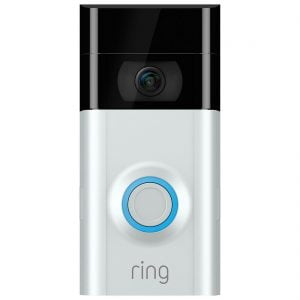 Ring Wi-Fi Video Doorbell V2 (Incl Slvr and Brn Face)
