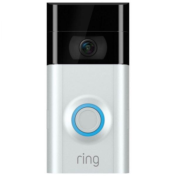 Ring Wi-Fi Video Doorbell V2 (Incl Slvr and Brn Face)